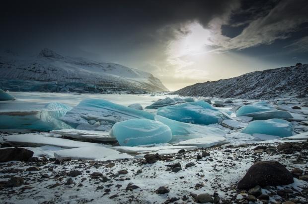 Gletscherzunge Svinafellsjökull, Skaftafell NP.