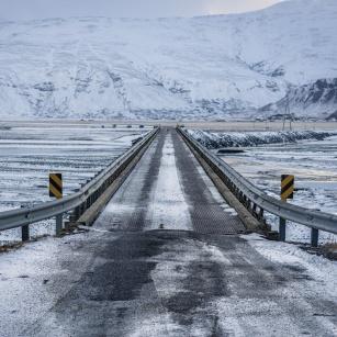 unbekannte Brücke in der Nähe von Höfn